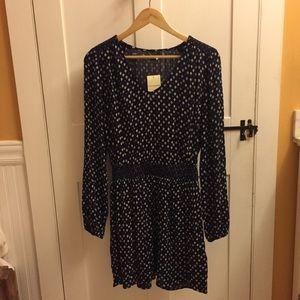 NEW Lucky Brand Navy Blue Dress